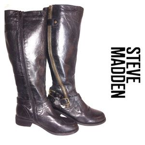 Steven Madden Synicle Riding Knee Leather Boot